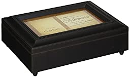 Carson Home Accents 17948 Tears Memories Bereavement Music Box, 8-Inch by 6-Inch by 2-3/4-Inch