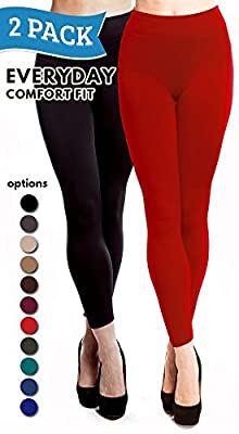 Fleece Lined Leggings for Women Warm Thick Spandex Tights by Stylish Fit Body