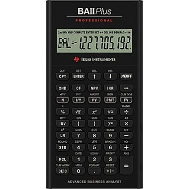 TEXAS INSTRUMENTS, TI BA II+ Professional Financial Calculator grey/black (Catalog Category: Calculators Business & Finance) by Texas Instruments