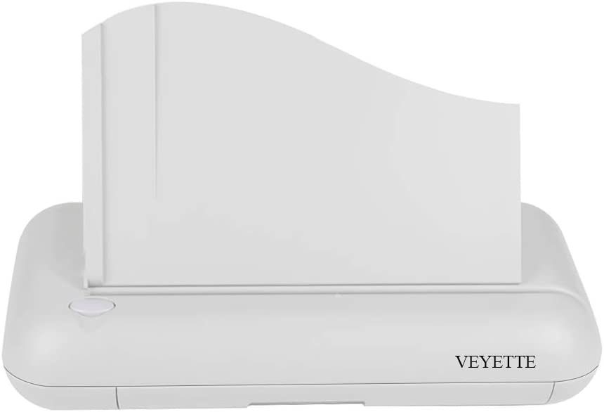 Electric 3 Hole Paper Punch, VEYETTE Heavy Duty Commercial Hole Puncher with Adapter for Office School Studio, 30 Sheet Capacity,Color Gray