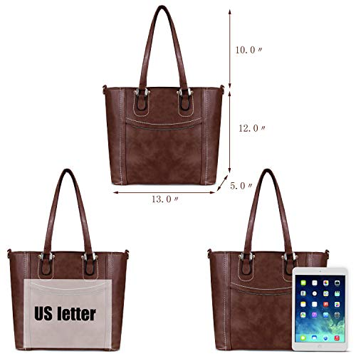 Leather Cross Large Body Vegan Women Bags PU Handbags Top Bags Satchel Zipper Shoulder Handle Coffee Tote YOLANDO x05Fq6wOw
