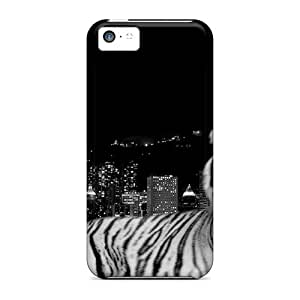 QlNsKtj-1707 Anti-scratch Case Cover Ice Cream Song Protective City Dark Tiger Case For Iphone 5c