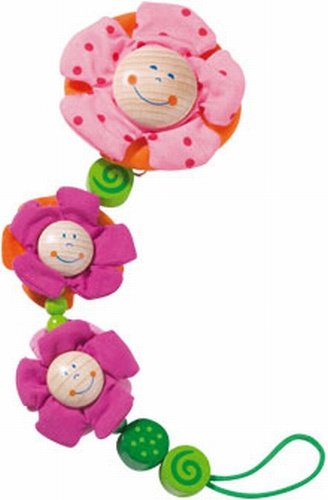 HABA Blossoms Pacifier chain (Toy Stroller Blossom)