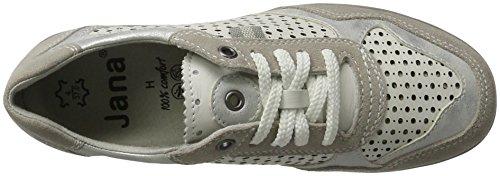 Jana 23704, Sneakers Basses Femme Blanc (White Comb. 197)