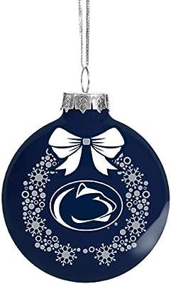 FOCO NCAA Wreath Glass Ball Christmas Tree Ornament-2 5//8