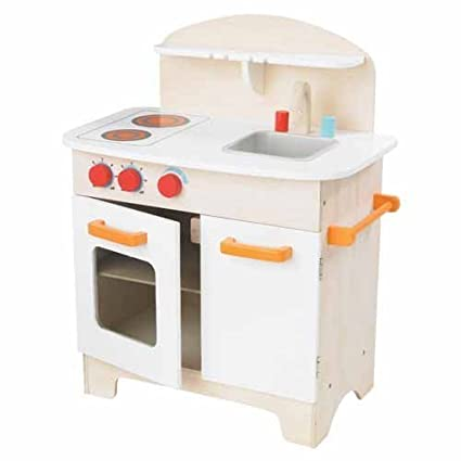 Educo (E3100 Hape Gourmet Kitchen In White Kidu0027s Wooden Play Kitchen  (Discontinued By Manufacturer