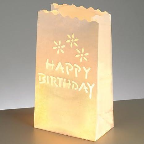 Efco - Decoración de mesa-luz-Bolsas para cumpleaños con ...