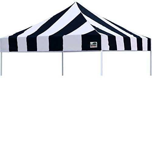 Eurmax New Pop Up 10X10 Replacement Instant Ez Canopy Top Cover, Stripe Black (& White Black Canopy)