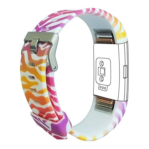 Fitbit Charge 2 Band, Fitbit Replacement Rubber Wristband Strap for Fitbit Charge 2
