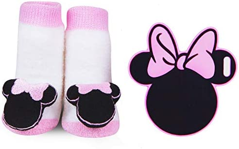 Disney Baby Booties Cute Plush Socks Shoes Shower Party Gift Minnie Mouse