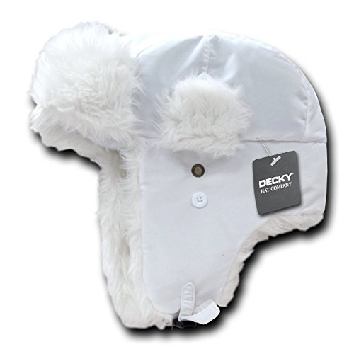 DECKY Aviator Hats, White, Small/Medium