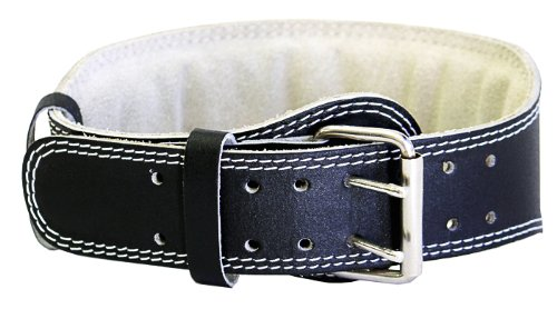 Ader Sporting Goods Weight Lifting Belt- 4″ Black Padded (Medium) 25-36 Review