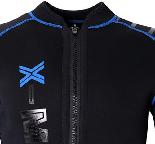 Herren Neoprenjacke Neopren Wetsuit Jacket Neoprenanzug Jacke UV Schutz Anzug