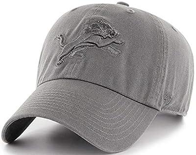 '47 Brand - Exclusive - NFL Detroit Lions Vintage Graphite/Dark Gray CleanUp Size: OSFM Adjustable Dad Hat