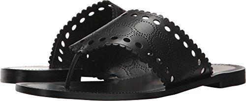 Diane von Furstenberg Women's Ekati Thong Sandal Black 9 B US