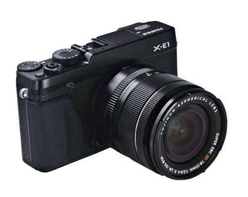 FUJIFILM デジタル一眼レフカメラ X-E1 ブラック レンズキット ミラーレス 1630万画素 APS-Cサイズ Xマウント X-E1/XF18-55 SET B