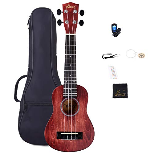 Vintage Stringed Instruments - Soprano Vintage Hawaiian Ukulele WINZZ 21-inch with Bag, Tuner, Strap, Extra Strings, Fingerboard Sticker