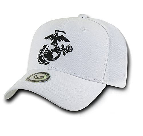 USMC Marine Corps Silhouette Logo Baseball Cap White