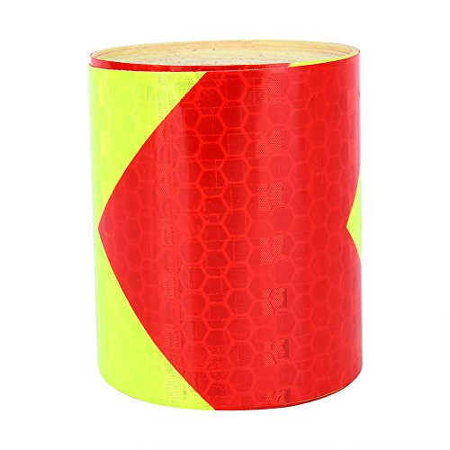 Akozon Warning Lighting Sticker Adhesive Tape Roll Strip Akozon, Arrow Car Truck Safety Warning Night Reflective Strip Tape Stickers 2