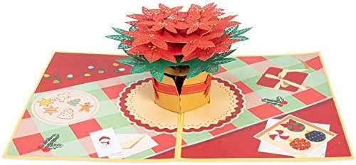 MUM MERRY CHRISTMAS 3D POP UP POINTSETTIA LUXURY CARD WITH ENVELOPE NEW SEALED