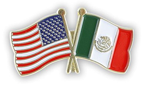 American Flag x Mexico Flag Enamel Lapel Pin (1 Pin)