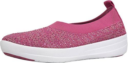 Ballerinas Fitflop Slip Women's Fuchsia Dusky Pink On Uberknit H95 y7q1KqX
