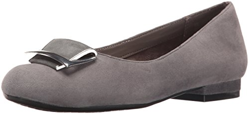 Aerosoles Women's Good Times Slip-On Loafer, Dark Gray Suede, 10 M US - Grey Suede Print