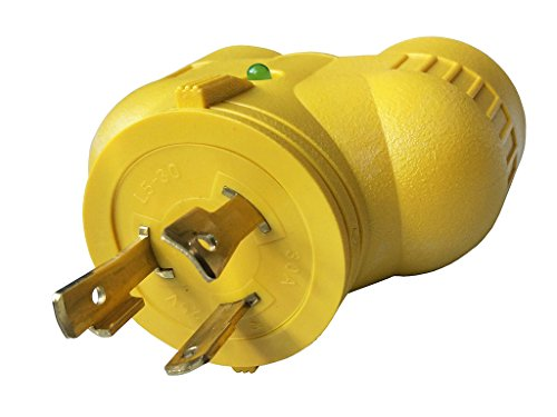 (Parkworld 885224 Generator Adapter 30A Twist Lock L5-30 Plug to 20A (2) 5-20 Receptacle)