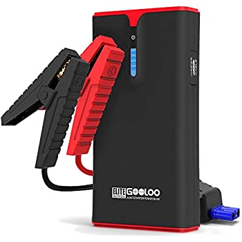 Built-in LED Light GOOLOO Quick Charge in /& Out Power Pack 12V Auto Battery Booster Portable Phone Charger 500A Peak SuperSafe Car Jump Starter Up to 4.5L Gas