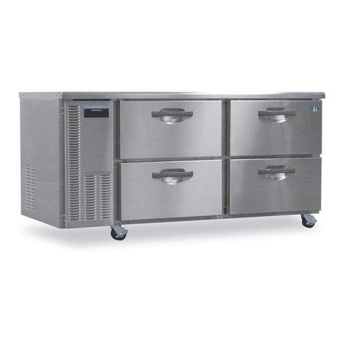 HWF68A-D 68'''' Professional Series Worktop Freezer with 18.8 cu. ft. Capacity EverCheck System Stainless Steel Interior and Exterior 115 Volts 14 Gauge Stainless Steel Drawer Slides and Front Breathing Compressor: Stainless Steel