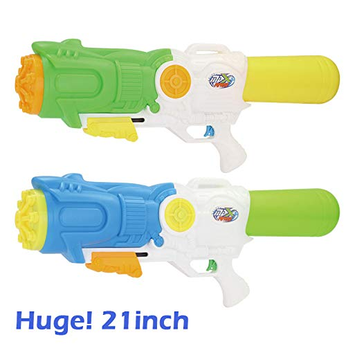 Fun-Here Huge! Water Guns 21 inch 2 Packs Blaster High Capacity Super Squirt Soaker Water Pistol Blaster Gun Funny Party Pool Summer Fighting Toy Kids - Gun Water Soaker