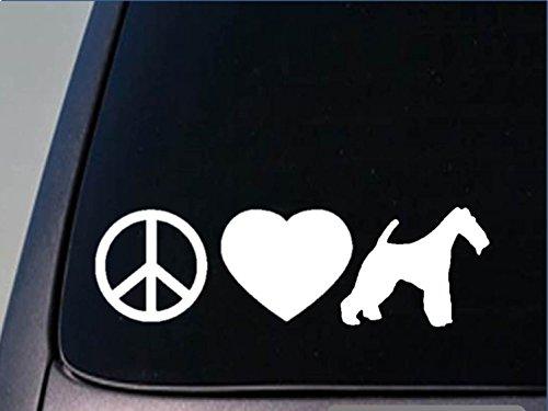 Peace love Fox terrier sticker *H125* 8