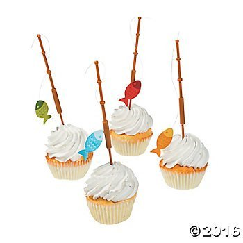 (Fisherman Fishing Pole Cupcake Picks - 25)