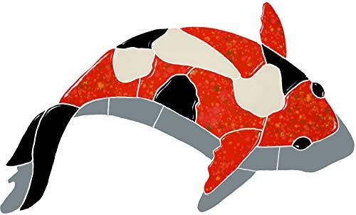 Artistry in Mosaics Koi Fish Red Ceramic Swimming Pool Mosaic (8