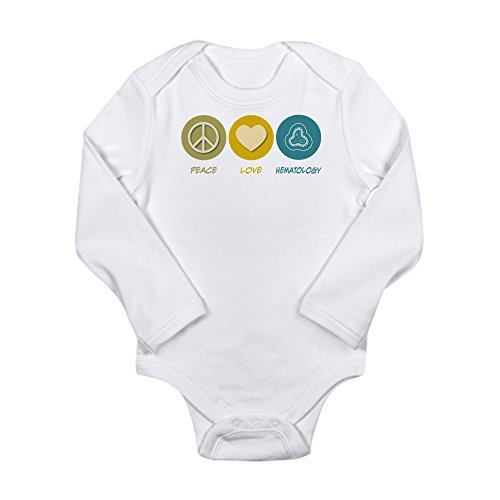 CafePress - Peace Love Hematology Body Suit - Cute Long Sleeve Infant Bodysuit Baby Romper