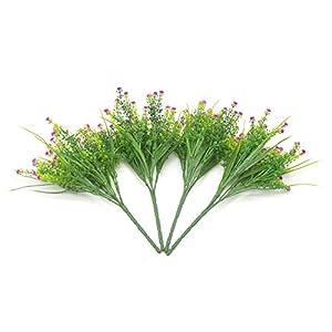 Bird Fiy Babys Breath Artificial Flowers,4 Bundles Gypsophila Flower Wedding Home Decor Gift (Red) 3
