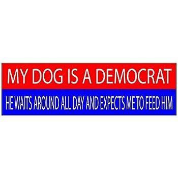 10x3 patriotic bumper sticker auto decal conservative republican usa flag american patriot dog