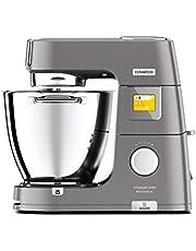 Kenwood Titanium Chef Patissier XL KWL90.034SI – keukenmachine met geïntegreerde weegschaal, exclusief bij AMAZON, 7 l mengkom met warmtefunctie, 1400 watt, incl. 4-delige patisserie-set, zilver