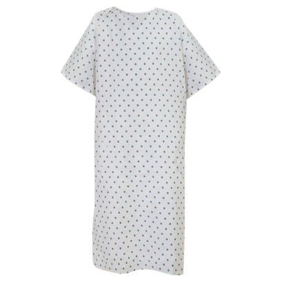 Personal Touch Top of The Line Patient Gowns, Back Tie (12-Pack) Demure Print, Comfortable Polyester and Cotton Blend is Easy-Care, and Fits All Sizes Up To 2XL, by Personal Touch