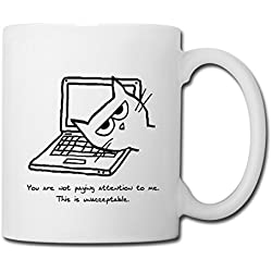Cats And Computers Coffee/Tea Mug by Spreadshirt, white