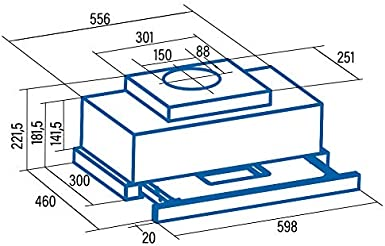 Cata - Campana extractora, Modelo TFH 663X, 6 niveles de extracción, 60 cm, Velocidad de Extracción MAX 575 m³/h, Potencia sonora mínima 46 dB: Amazon.es: Grandes electrodomésticos