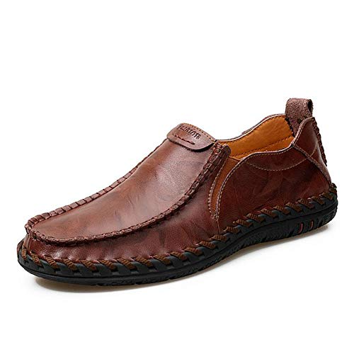 Lavoro Traspirante Uomo Shoes Scarpe Mens Antiscivolo Da Casual Business Mocassini 41 on All'aperto Leisure Formale Bottom winered Spessa Hy Slip Guida wqzpCq