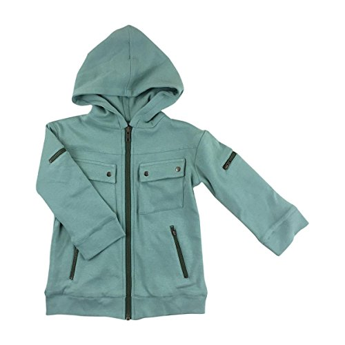 Kate Quinn Organics Long Sleeve Motorcycle Jacket, 12-18M (Jadeite Apparel)