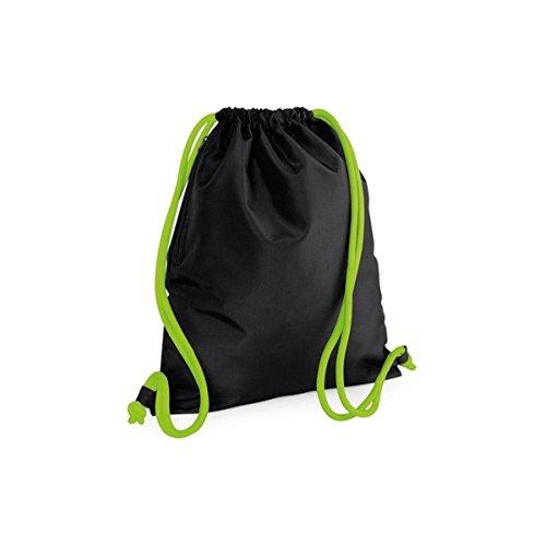 Icon Black Gymsac Green Lime Bag Drawstring Bagbase TxPwSUU