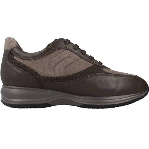 Geox U4462a02243c9297 Sneakers Pour Hommes En Cuir Gris / Boue Grise / Boue 44