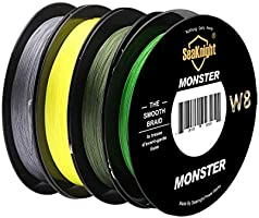 SeaKnight Monster W8 trenzado líneas 8 Strands Weaves 150 m ...