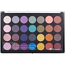 BH Cosmetics Foil Eyes 28 Color Matte Eyeshadow Palette, 1.38 Oz/39 G