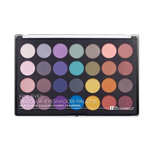 BH Cosmetics Foil Eyes 28 Color Matte Eyeshadow Palette, 1.58 Oz