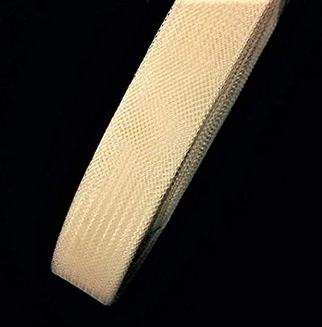 Ivory 50 Yards 1 inch Stiff Polyester Horsehair Braid Selling per Roll