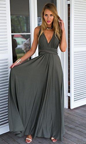Robe Abito rosso Fasciatura Party lungo Abito Club Boho Bridesmaids Dress Maxi SYT Donne Infinity sexy gray Cabriolet Longue Femme 0qwZ08Bx